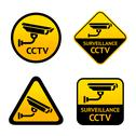 Stock Illustration of Video surveillance, set stickers