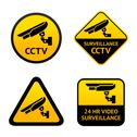 Stock Illustration of Video surveillance, set symbols