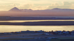 Stock Video Footage of Reykjavik Airfield Telephoto