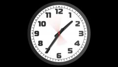 Clock 1 4 PNG Stock Footage
