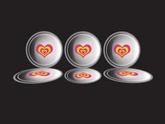 The hearts Stock Illustration