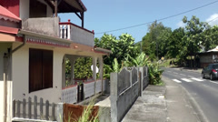 Guadeloupe Basse Terre district 007 abandoned house in basse terre district Stock Footage