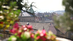 Zagreb view - stock footage