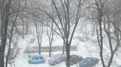 Stock Video Footage of Heavy Snowing Detail Disaster, Calamity, Still-Shot