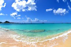 Beautiful Waterscape on a Tropical Caribbean Island - stock photo