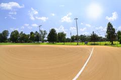 Baseball Field on a Beautiful Summer Day Stock Photos