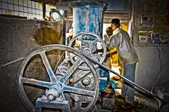 Stock Photo of oil mill