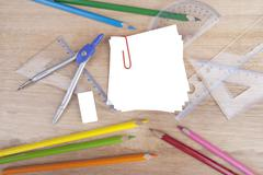 Group of stationery Stock Photos