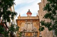 Stock Photo of Valencia, Spain, facade of the Church.