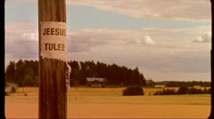 Jesus will come  / Finland countryside Stock Footage