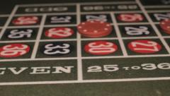 Roulette table, Closeup Stock Footage