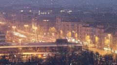Budapest Hungary Winter Timelapse 55 Stock Footage