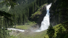Panoramic view of Krimml Waterfalls. (Austria) Stock Footage