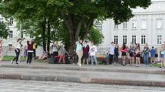 Modern street dancers Stock Footage