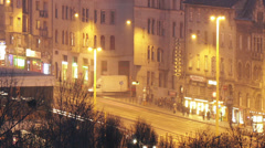 Budapest Hungary Winter Timelapse 58 Stock Footage