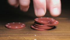 Poker Chips, Closeup Stock Footage