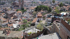 Panoramic view colonial city - stock footage