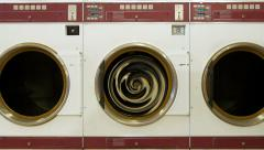Commercial Clothes Dryer with Cosmic Vortex Stock Footage