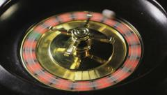 Roulette wheel spinning, Closeup - stock footage