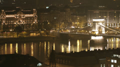 Budapest Hungary Winter Timelapse Fisheye 57 Stock Footage