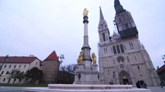 Zagreb Cathedral - stock footage