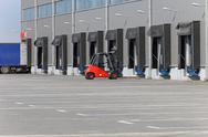 Stock Photo of forklift warehouse