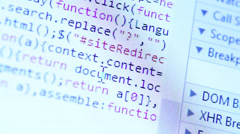 HTML Code Stock Footage