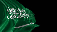Stock Video Footage of Flag of Saudi Arabia