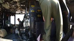 HMLAT-303 Aerial Gun Shoot Stock Footage