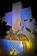 Christmas nativity scene of jesus birth Stock Photos