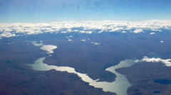 Panoramic view from Propeller Aircraft Stock Footage