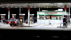 Hess Express gas and market Stock Footage