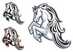 Wild stallion mascot Stock Illustration