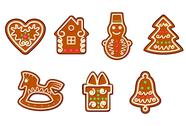 Stock Illustration of gingerbread christmas objects