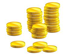 Many gold coins Stock Illustration