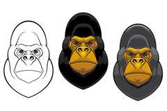 Vaara gorilla monkey maskotti Piirros