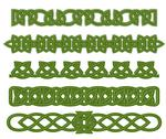 Stock Illustration of green celtic ornaments