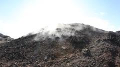 Smoking Lava Fields, Krafla, Iceland. Stock Footage
