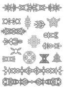 Celtic ornaments and embellishments Stock Illustration
