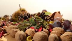 Dry fruits Stock Footage