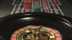 Roulette wheel spinning, Closeup Stock Footage