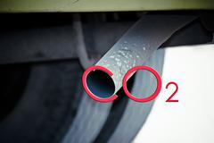 Stock Illustration of car exhaust pipe, india