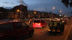Evening Rushhour Bogota, colombia near Campin Carrera 30 Stock Footage