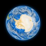 Stock Illustration of antarctica on planet earth