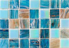 Aqua mosaic tiles Stock Photos