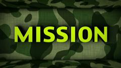 Countdown in Military Door and MISSION Final Text Stock Footage