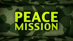 Countdown in Military Door and PEACE MISSION Final Text Stock Footage