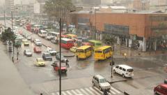 Bogota Storm Traffic / fuertes lluvias en Bogotá muchoTrancon - stock footage