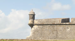 Guard Post in El Morro Castle Stock Footage