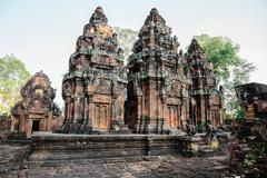 Banteay srey temple in siem reap, cambodia - stock photo
